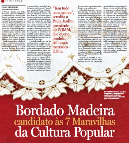 """Bordado Madeira no concurso nacional / Maravilhas da Cultura Popular"""""""